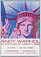 ポスター アンディ ウォーホル 10 Statues of Liberty 1986 額装品 アルミ製ベーシックフレーム(シルバー)