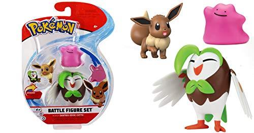 Lively Moments Pokémon Battle Pack Figuren Arboretoss, Evoli & Ditto / 3 Sammelfiguren / Spielfiguren Erweiterung