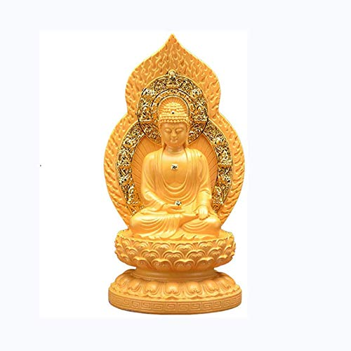 QULONG Resin Maitreya Laughing Buddha Statue Decoration Figurine Craft Ornament Home Office Decor To Bring Peace And Enhance Positive Energy