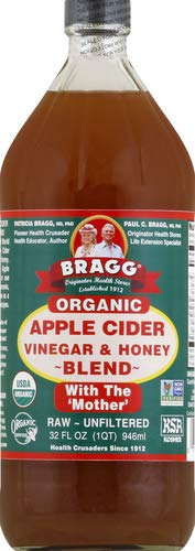 Bragg Organic Apple Cider Vinegar Blends with Honey 32 Oz – USDA Certified Organic – Raw, Unfiltered – With the Mother