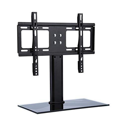 TabloKanvas Soporte de TV Universal Soporte de TV de Pantalla Plana de Montaje en Base de Pedestal de Metal Ajustable (Color : Black)