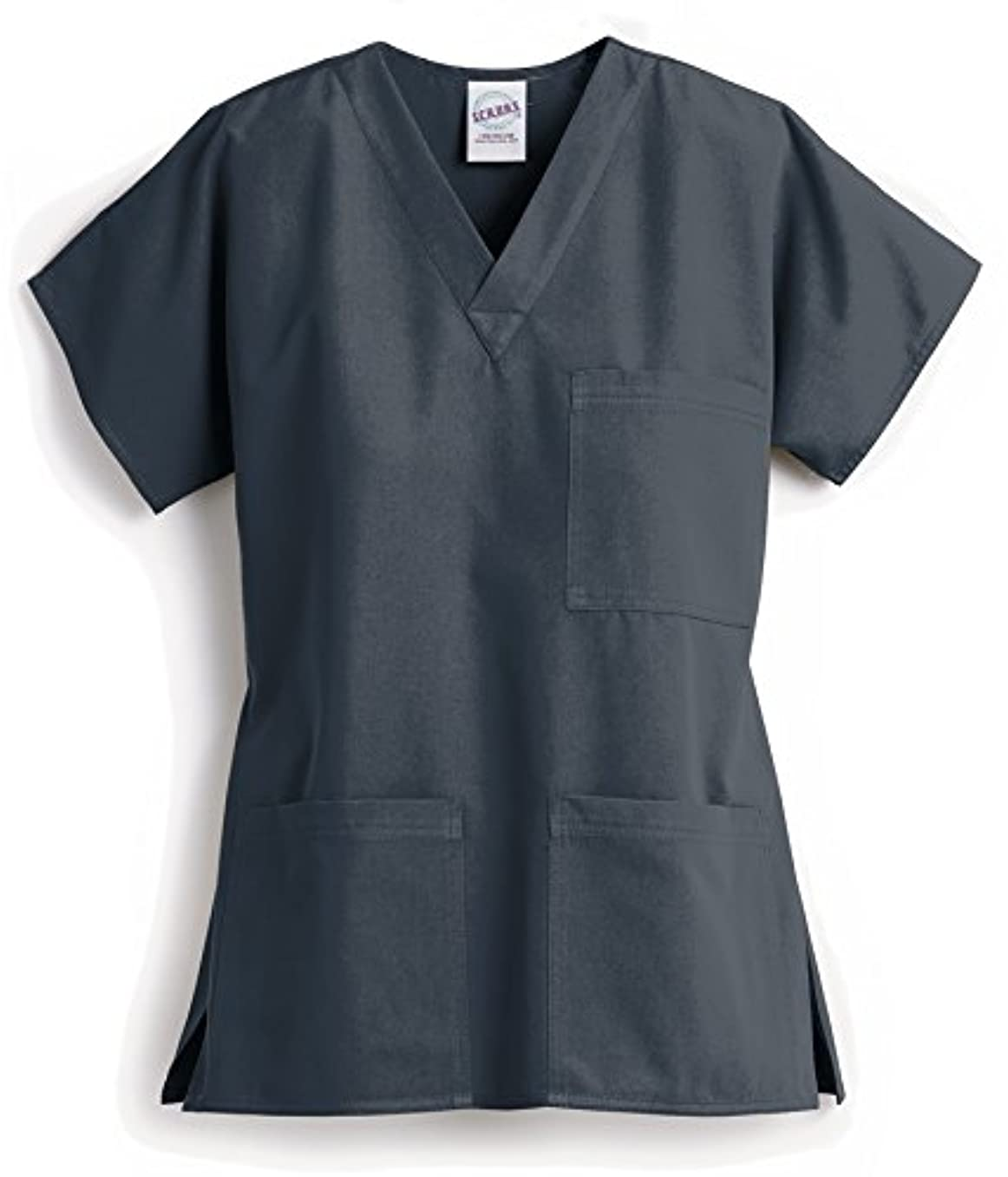 キャップ途方もない警察署アメリカスクラブス(S.C.R.U.B.S.) Z1004 3ポケットトップ Unisex XXS~L 医療ユニフォーム スクラブ 手術着 オペ着