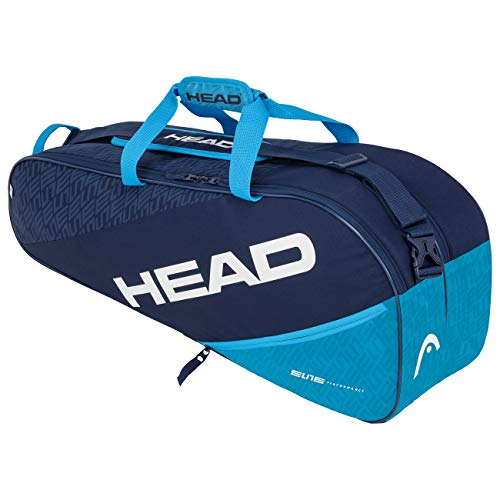 HEAD Elite 6R Combi, Borsa per Racchetta Unisex Adulto, Navy/Blu