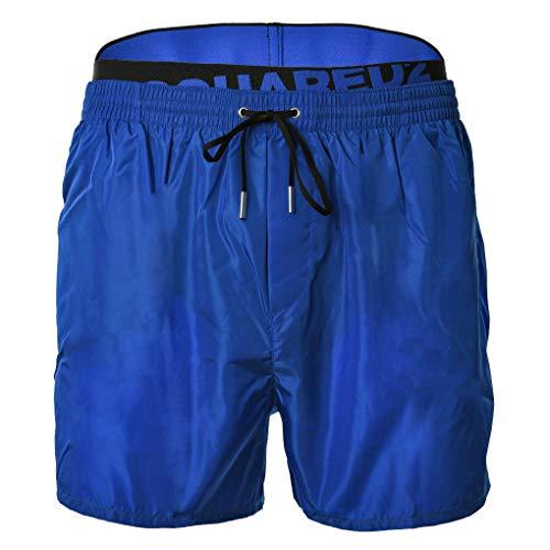 DSQUARED2 heren zwembroek - zwemshort, mesh-inzetstuk, eenkleurig