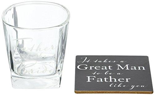 Posavasos para vaso Whisky Regalo Boda Padre de La Novia Amore por Juliana