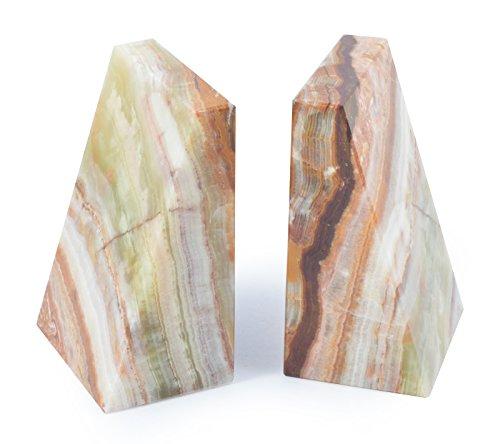 Onyx Marmor Keil Buchstützen