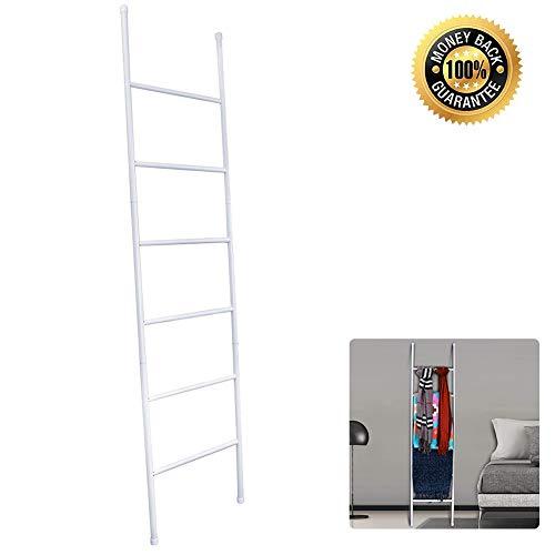 Deken Handdoek Ladder, Leuning Ladder Rack, Gratis Staande Decoratieve Metalen Handdoek Drogen Stand - Houdt Handdoeken, Dekens, Kleding En Tijdschriften/Kranten - 6 Niveaus
