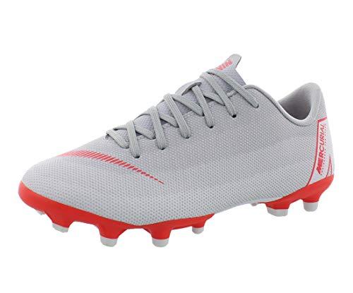 NIKE Mercurial Vapor XII Academy Kinder Fußballschuhe, Mehrfarbig (Wolf Grey/Lt Crimson/Pure Platinum 060), 38.5 EU