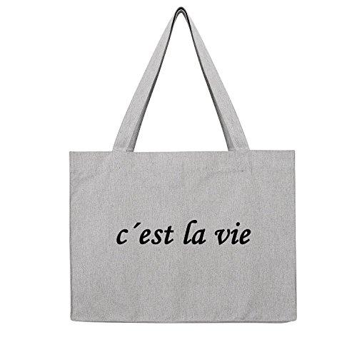 Premium Shopping Bag c 'est la vie opdruk tas gymtas rugzak jute tas sporttas shopper mode