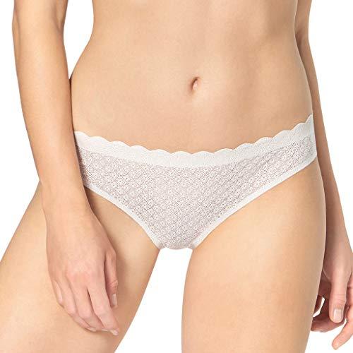 Sloggi Damen Zero Feel Lace Brazil Panty Brazilian Slip, Weiß (Angora 6308), No Aplica (Herstellergröße: M)