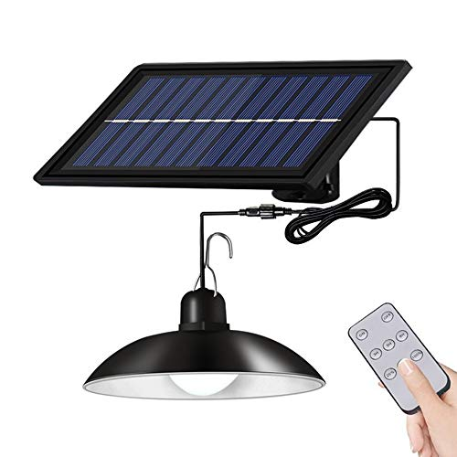 Mabor Lámpara solar de doble cabeza impermeable IP65 para exteriores, con cable, apta para patio, jardín, interior, etc.