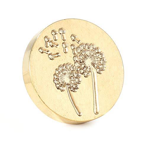 Domybest Stempelkopf aus Wachs, Vintage, Siegelstempel für Hochzeit, Stempel, ohne Griff, für Umschläge, Einladungen, Hochzeit, Verschönerung
