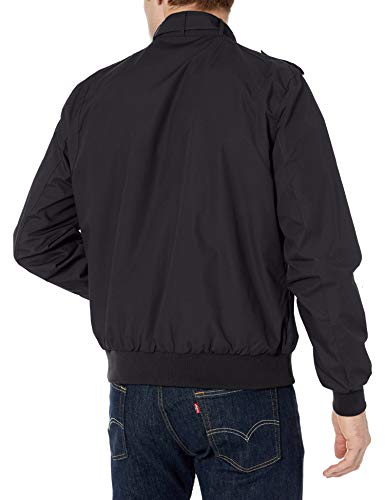 Members Only Men's Original Iconic Racer Jacket, Black, Large