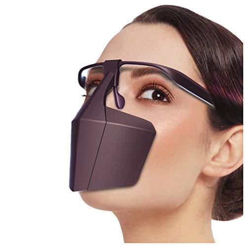 Btruely Safety Gesichtsschutzschild Kunststoff Visier Gesichtsschutz Anti-Fog Anti-Öl Splash Transparent Schutzvisier - Essen Hygiene Spezielle Anti-Saliva Sesichtsschutzschirm