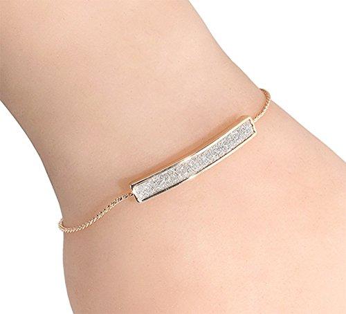 LAMEIDA Pulsera de moda simple diamante pulsera ajustable pulsera ajustable