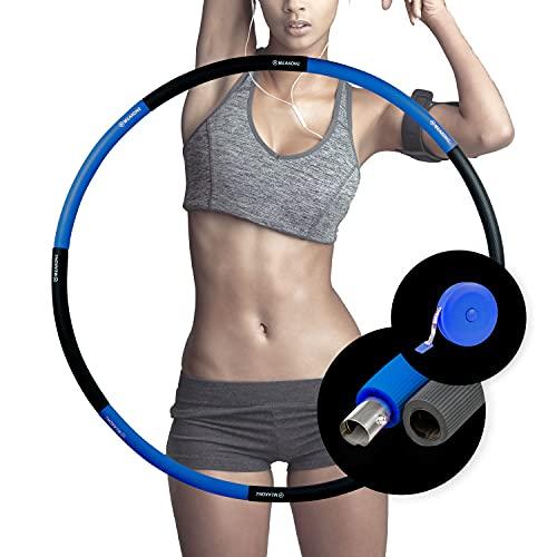 MEAXONE Hula Hoop - Aro de adelgazamiento para adultos, color azul y gris