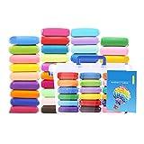 ZHW Arcilla De Polimérica, 38 Colores Segura Y No Tóxica Horno Bake Modelado Craft Set Y Tutoriales, Accesorios, Mejores Regalos para Los Niños,100g