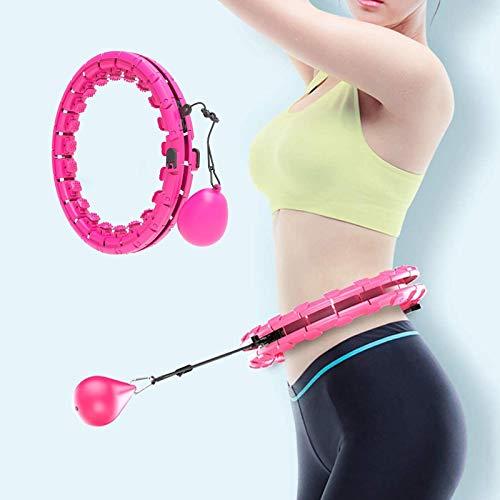 Showlovein Smart Hoola Hoops Reifen Erwachsene und Kinder Übung 24 Abnehmbare Knoten Einstellbare Größe 2 in 1 Bauch Fitness Smart Weighted Hula Ring Hoops