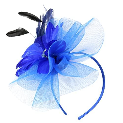 ABOOFAN Fascinators Hat Diadema Flor Malla Plumas Derby Tea Party Sombreros Elegante...