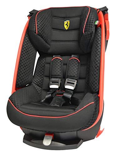 Siège auto inclinable Ferrari Gr 1 (9kg à 18kg) - 4 étoiles aux tests TCS - protection chocs latéraux - Assise inclinable 4 positions-barres rouges
