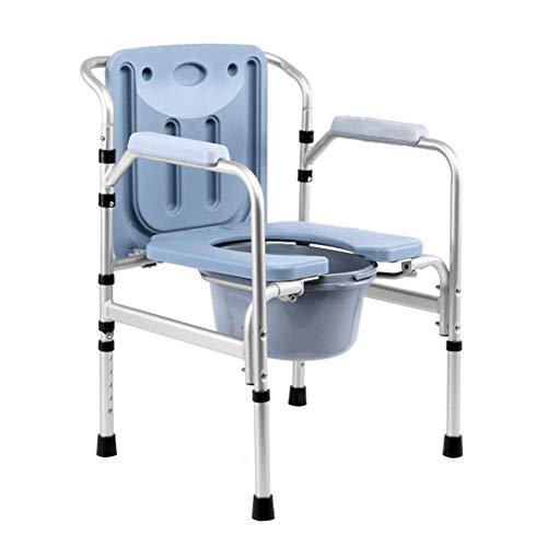 AFDK Kommode Stühle Stuhl Klappbett Nacht Kommode Sitz - Toilettensitz Toilette verstellbarer Höhenrahmen Tragbarer Sitz Stuhl Hocker mit Deckel für Erwachsene, Handicap, ältere Menschen Preg