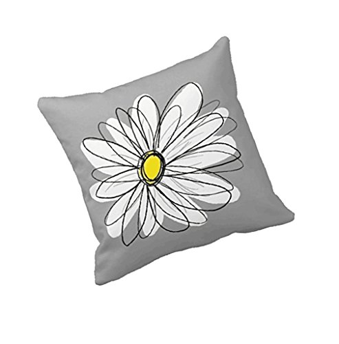 Kissenbezug 45cm x 45cm Blumen Drucken Super weiche Kopfkissen Sofa Lendenkissen Home Decor Cushion Cover Pillow Cover LuckyGirls