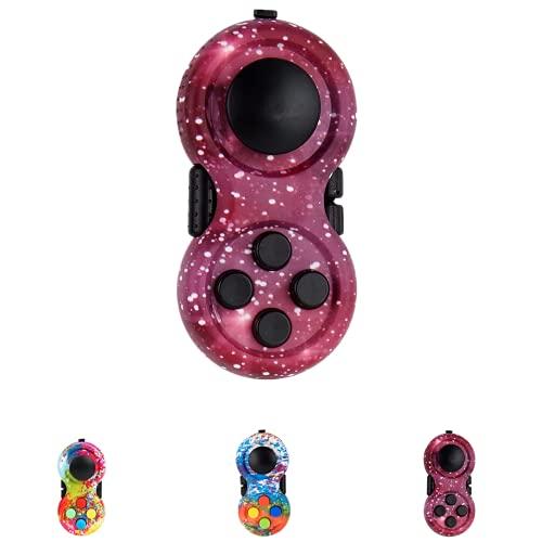 BULINGNA Fidget Pad Sensory Fidgets Controller Pad Fidgeting Blocks Fidgets Spinner Toy for ADHD ADD...