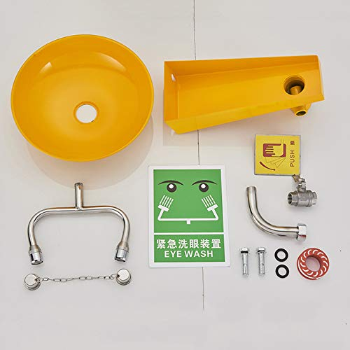 5151BuyWorld Grifo Amarillo Y Acero Inoxidable 304 Colgante De Pared De La Estación De Lavaojos Adecuados Para El Hospital Laboratorios De Fábrica Envío Gratis ==>Type B +