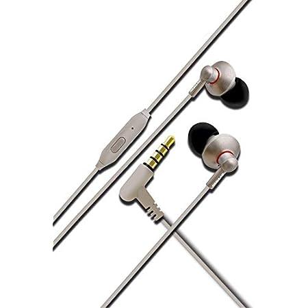 Hamaan B-44 Universal Extra Bass 3.5mm Jack Earphones with Mic (Grey)