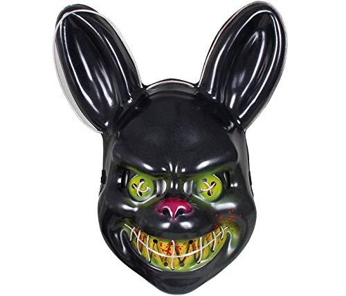 Maschera Luminosa La Notte del Giudizio The Purge Luci LED Bianchi Coniglio Horror per Travestimento Costume Halloween Carnevale Adulti Ragazzi Uomo Donna