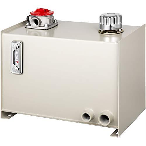 OldFe Öl Behälter 25L für Hydraulikaggregate Weiß, Tank für Hydraulikaggregate Hydrauliköltank, Hydraulikbehälter mit Öltemperaturanzeige Füllstandsanzeige Heizöl Hydraulikfilter