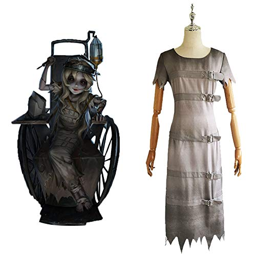 GGOODD Anime Games Identity V Disfraz de escultor para mujer, Halloween, fiesta, gris, conjunto completo con diadema, M