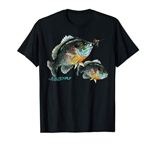 Black Fly Bluegill Fishing Shirts Panfish Jig Fly Fishing T-Shirt
