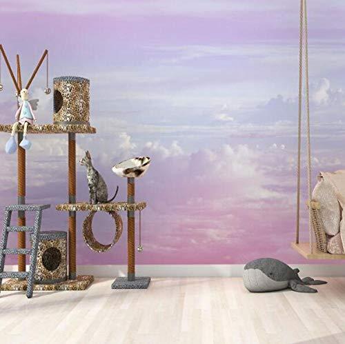 3D vliesbehang foto vlies premium fotobehang hemel wolk 3D cartoon deken wallpaper wandafbeeldingen voor meisjes kamer kleuterschool 300*210 300 x 210 cm.