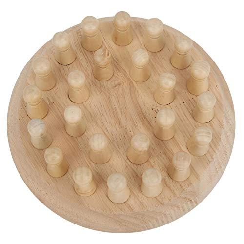 Jacksing Juego de ajedrez, Juego de ajedrez de Madera, Material de Madera sin deformación, no para niños, niños, Juego en casa