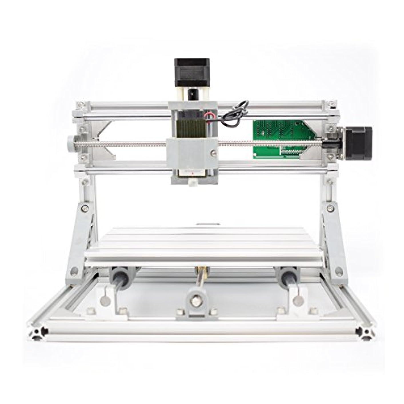 しなやかしなやか母DiY CNC 2-IN-1 CNCルータキット+ 5500mWレーザーCNC3018ミニフライスマシンのUSBデスクトップ彫刻機、木材、木工マーキングマシン 2イン1 CNCのルータキットCNC3018 + 5500mWレーザー彫刻 ミニPCBフライス盤、USBデスクトップ彫刻マーキングマシン、木材、木工
