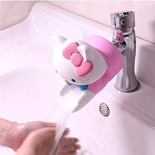 موسع صنبور المياه - أداة تمديد صنبور مياه للأطفال من الكرتون السليكون تساعد الأطفال على غسل اليد صنبور التمديد (SLT-KTM)