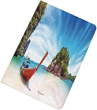 Tropical iPad Air 2 iPad Air Case Surreal Beach in Thailand with an Old Wooden Boat Island Ocean product image
