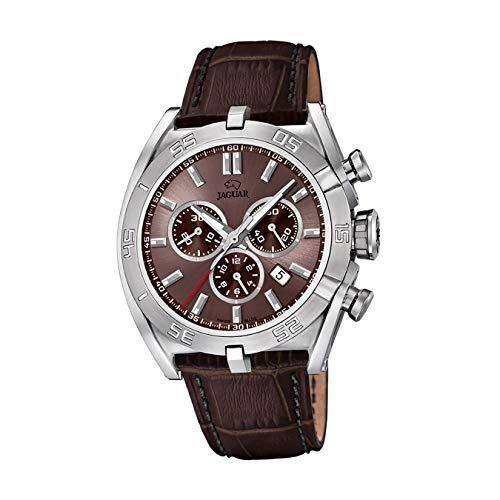 JAGUAR Reloj Modelo J857/6 de la colección Executive, Caja de 45,8 mm Correa de Piel marrón para Caballero