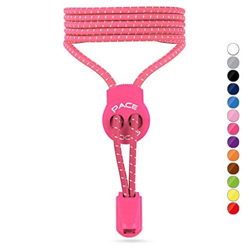 ALPHAPACE Pace Locks Schnürsenkel Pink 120cm 120 cm Schuhe Schuh Shoes Fashion Sport Schnellverschluss Schnellschnürsystem Schnellverschluß Rosa Schnuersenkel Schuhband Schuhbänder Sneaker Triathlon
