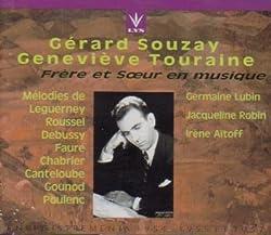 Songs By Leguerney Roussel Faure Chabrier Poulenc Canteloube Gounod (Frere et Soeur en musique) (2 CD Box Set) (Lys)