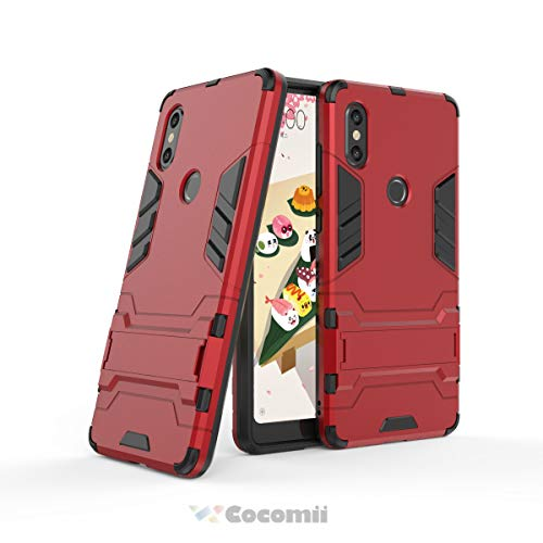 Cocomii Iron Man Armor Xiaomi Mi Mix 2S Case, Slim Thin Matte Vertical & Horizontal Kickstand Reinforced Drop Protection Fashion Phone Case Bumper Cover for Xiaomi Mi Mix 2S (Red)