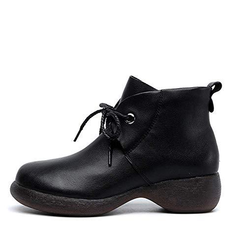 Zhongshanshiyoukeshidian korte dameslaarzen, platte schoenen, ronde schoenen | 35-40 comfortabel, ademend, niet te vol