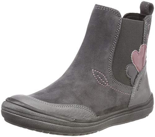 Geox Mädchen J HADRIEL Girl D Chelsea Boots, Grau (Dk Grey C9002), 24 EU