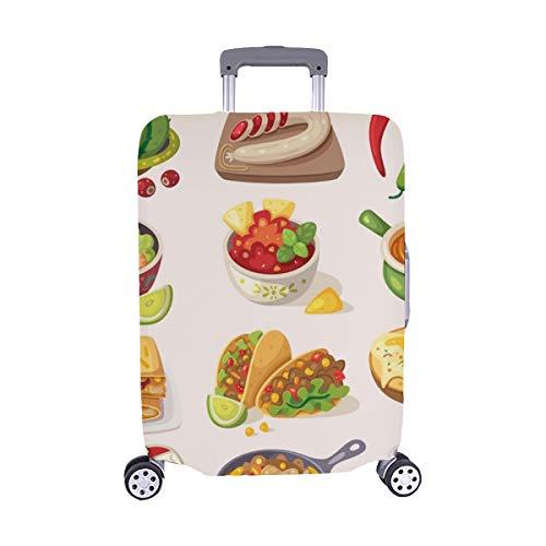 (Nur abdecken) Mexican Street Restaraunt Selbstgemachtes Lebensmittelprodukt Spandex-Staubschutz Trolley Protector case-Koffer Reisegepäck-Schutzkoffer-Abdeckung 28,5 X 20,5 Zoll