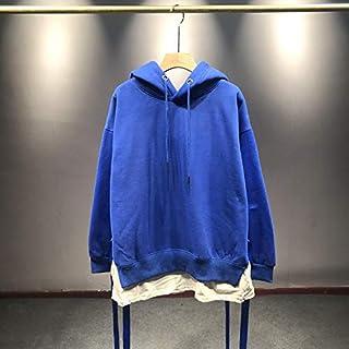 Sudadera con CapuchaSudadera con Capucha de Invierno Cardigan de Mujer Top Ropa de Mujer de Color sólido Código Promedio Azul