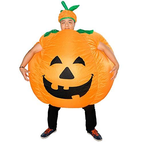 RiToEasysports Aufblasbares Kürbis Kostüm Unisex Halloween Kürbis Cosplay für Halloween Party