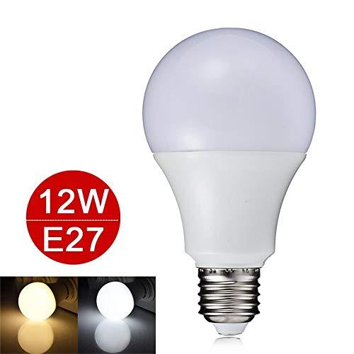 Bombilla LED E27 3W 5W 7W 9W 12W Lámpara LED inteligente IC 220V 110V SMD 5730 Bombilla LED de bajo consumo Bombilla sin soporte Atenuador 6pcs, 12W, blanco cálido