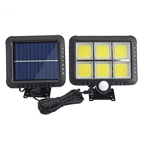 Zhouxing - Luces solares para exteriores, 120 luces de seguridad PIR con sensor de movimiento PIR, luces de seguridad de pared solar divididas