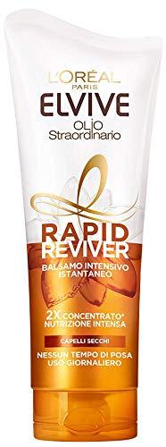 L'Oréal Paris Balsamo Istantaneo Rapid Reviver Elvive Olio Straordinario, Arricchito con Amminoacido e Olio di Jojoba, per Capelli Secchi, 180 ml